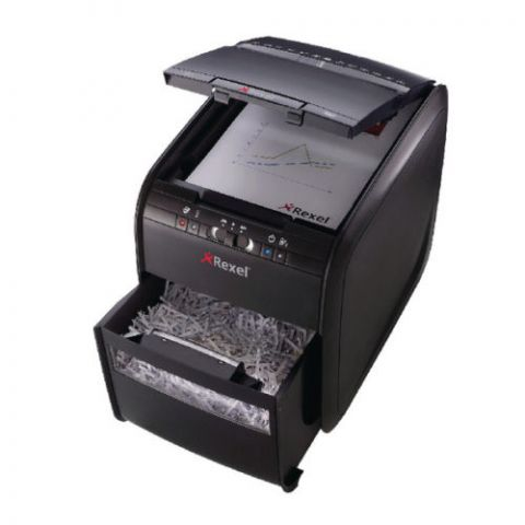 Rexel Paper Shredder 90x Cross Cut Automatic Autofeed 90 Sheets Capacity | Shreds Paper | Credit Cards
